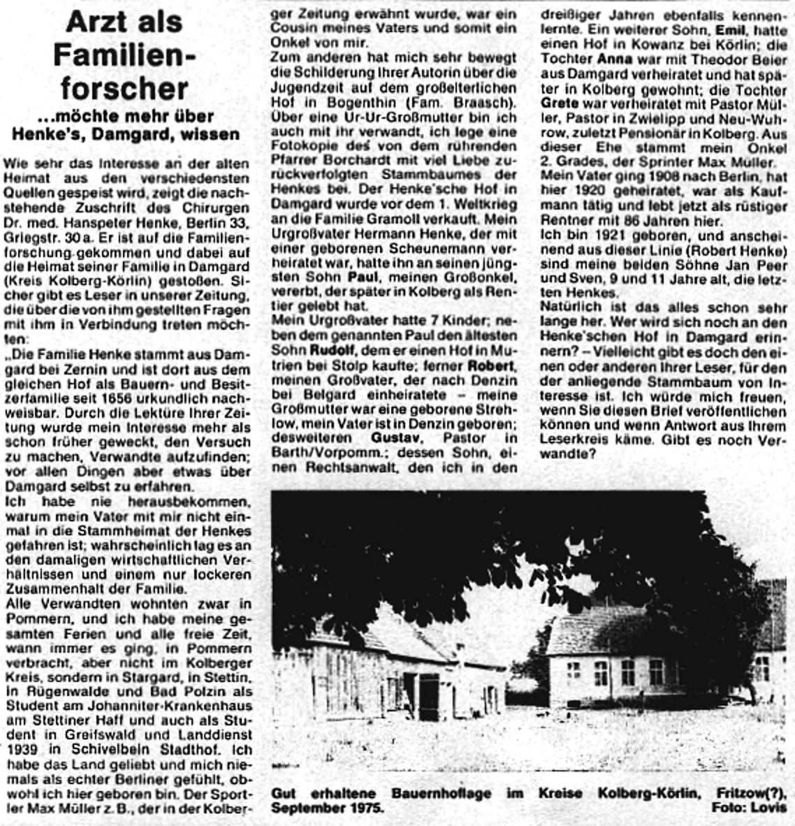 Quelle: Kolberger Zeitung, Ausgabe 9/1976