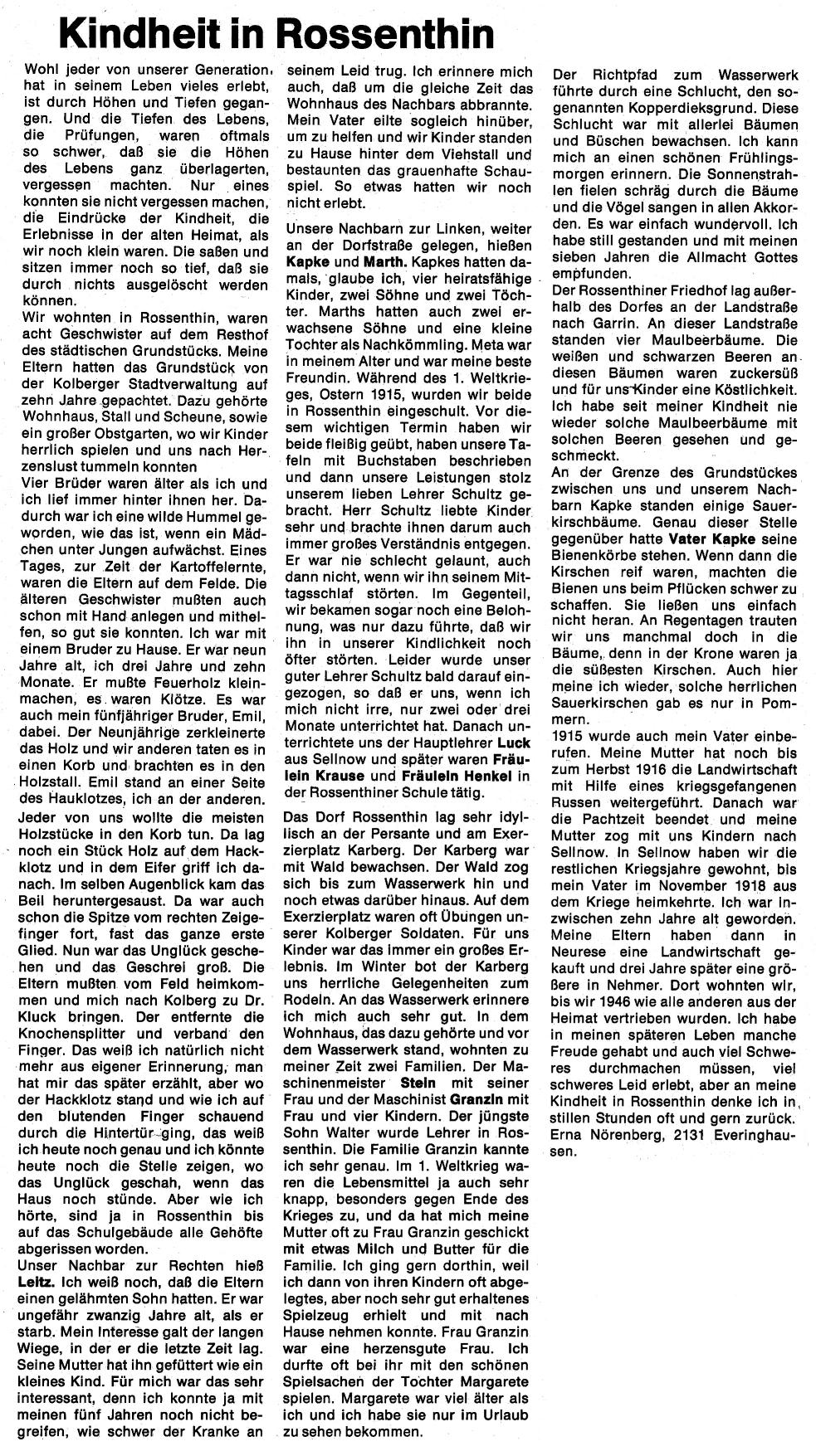 Quelle: Kolberger Zeitung, Ausgabe 7-8/1974